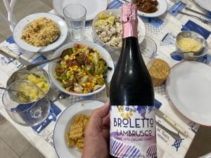 Broletto Organic Lambrusco with Food