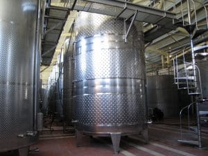 Steel tanks with cooling jackets