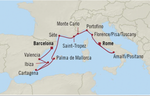 Organic Wine Cruise Map